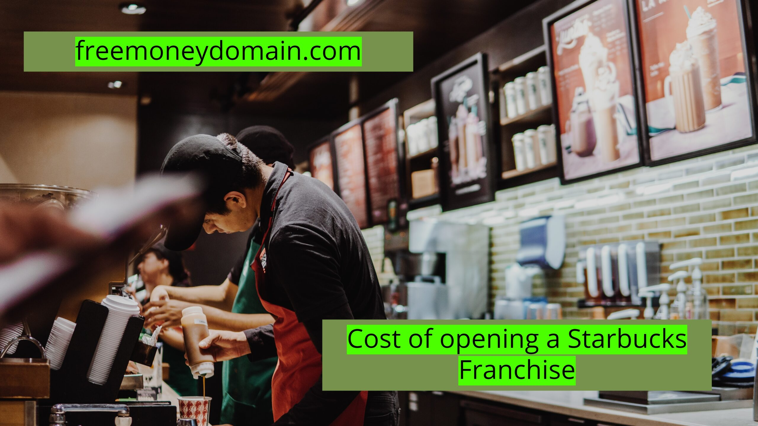 Cost of opening a Starbucks franchise in 2021